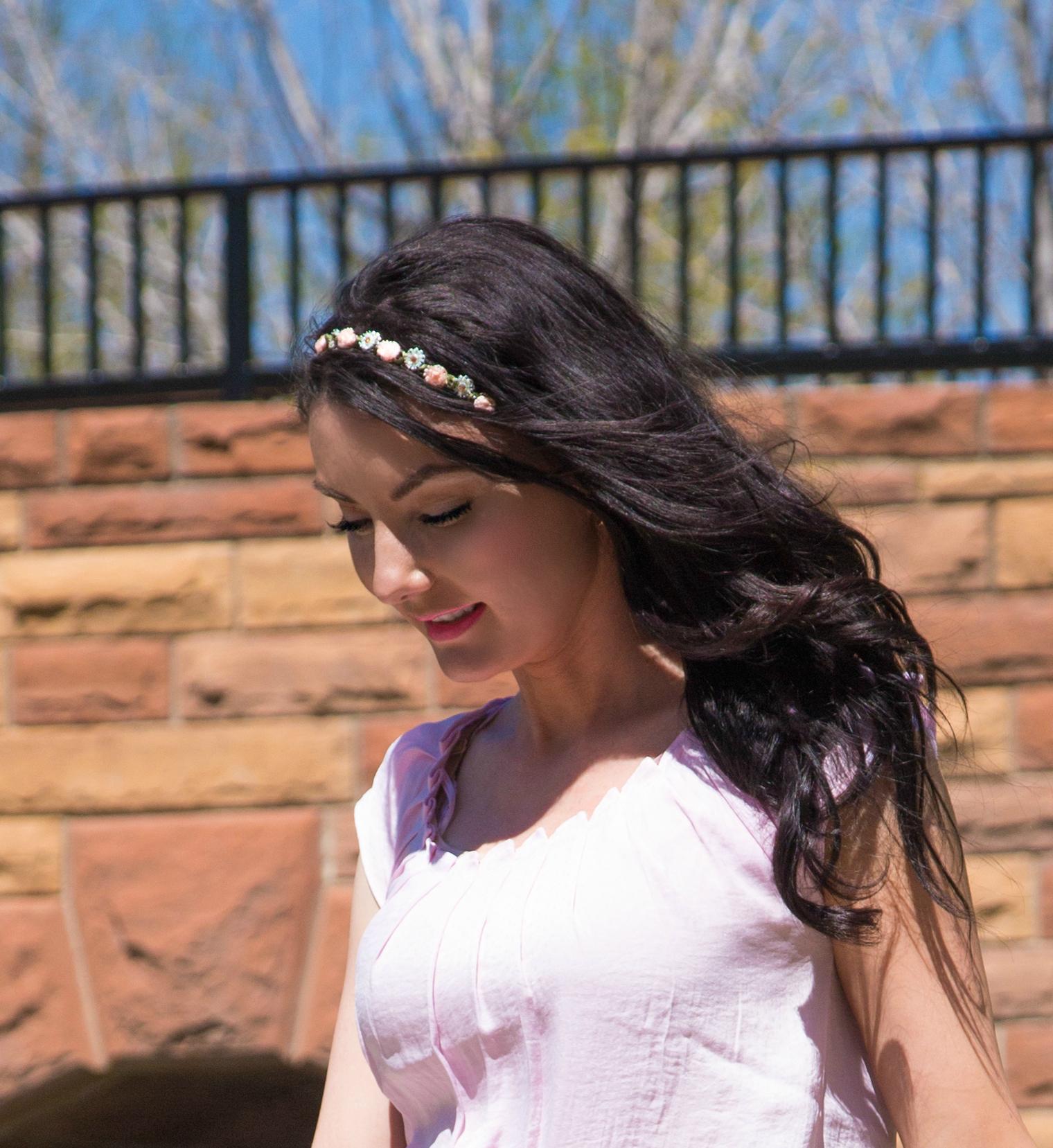LC-Cinderella flower-headband