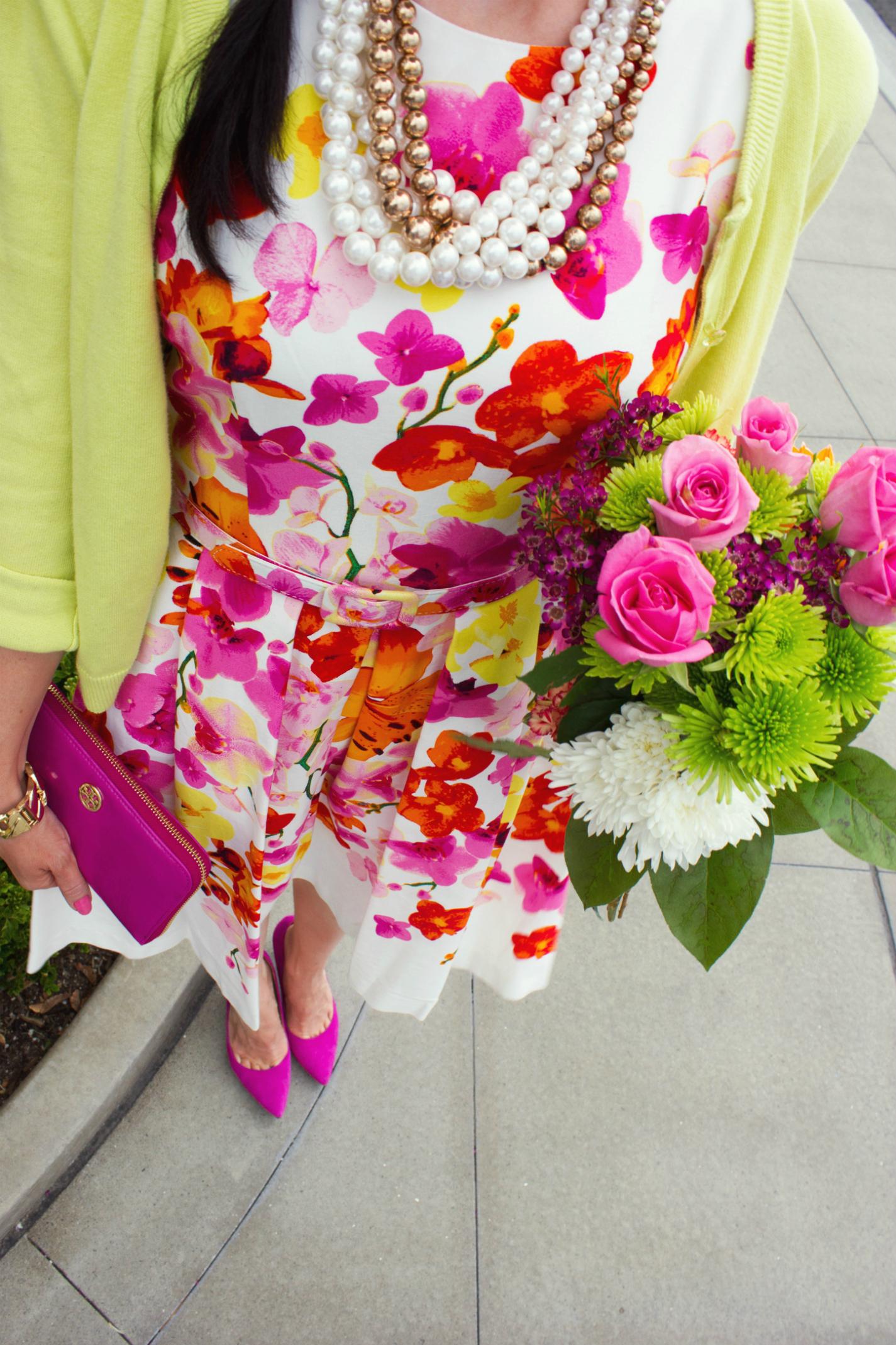 Pink Easter Floral Dress