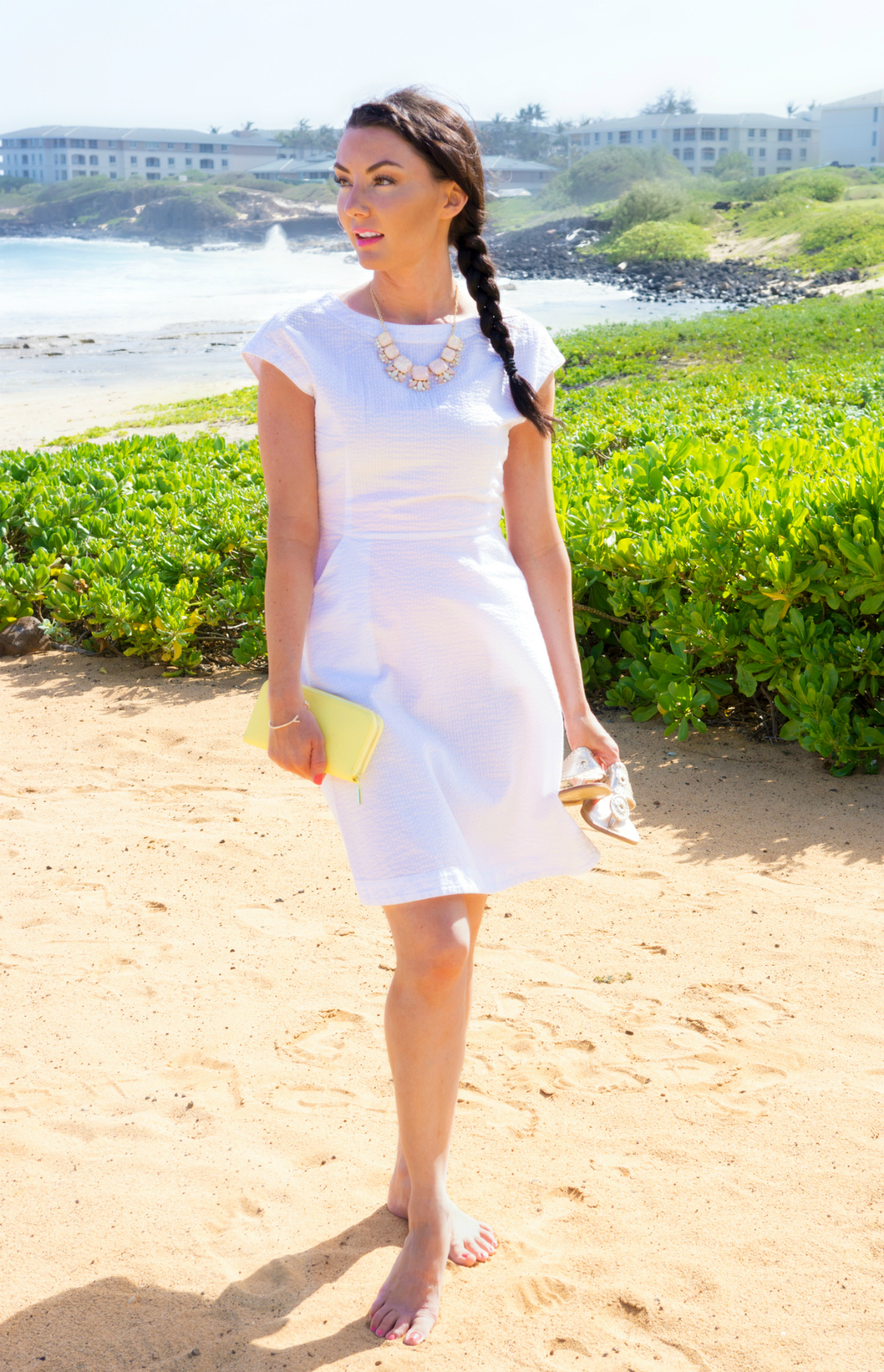 Chic White Beach Dress