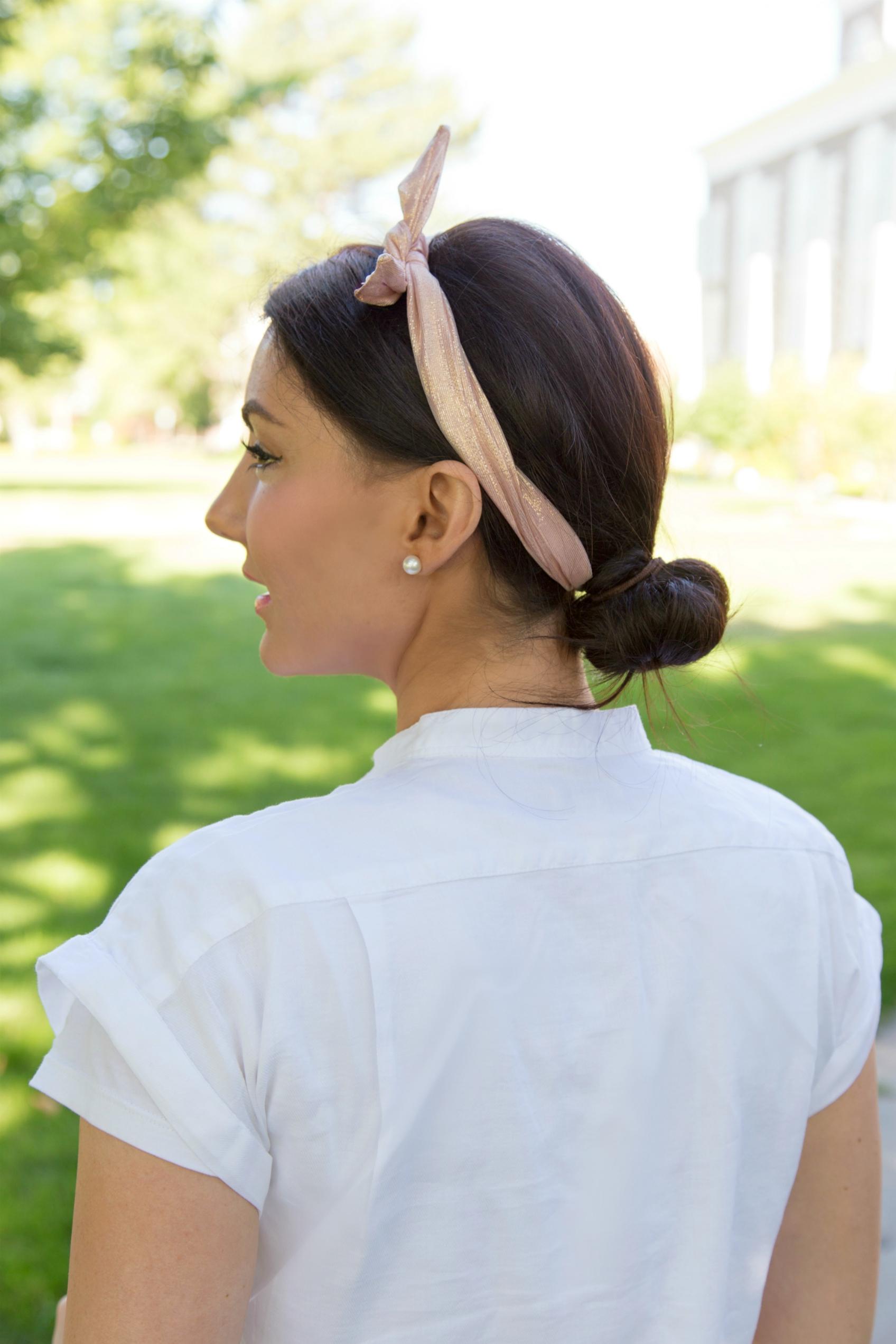 Ban.do rose gold twist tie headband