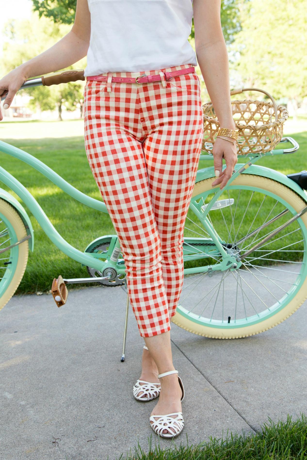 Summer gingham pants