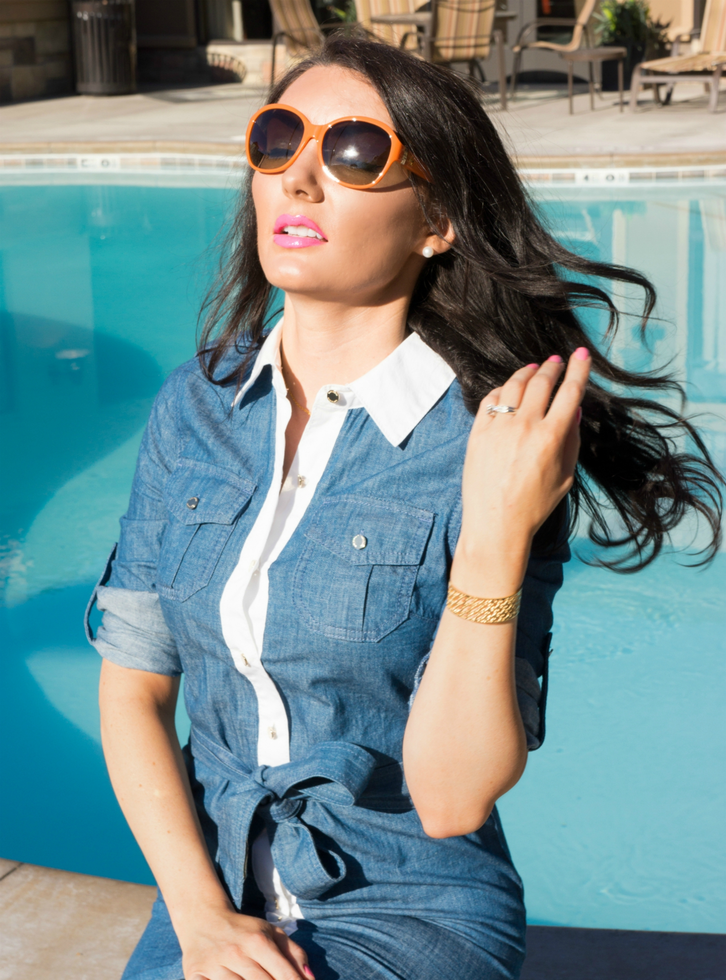 The Sugared Lemon  Tory Burch Orange sunglasses