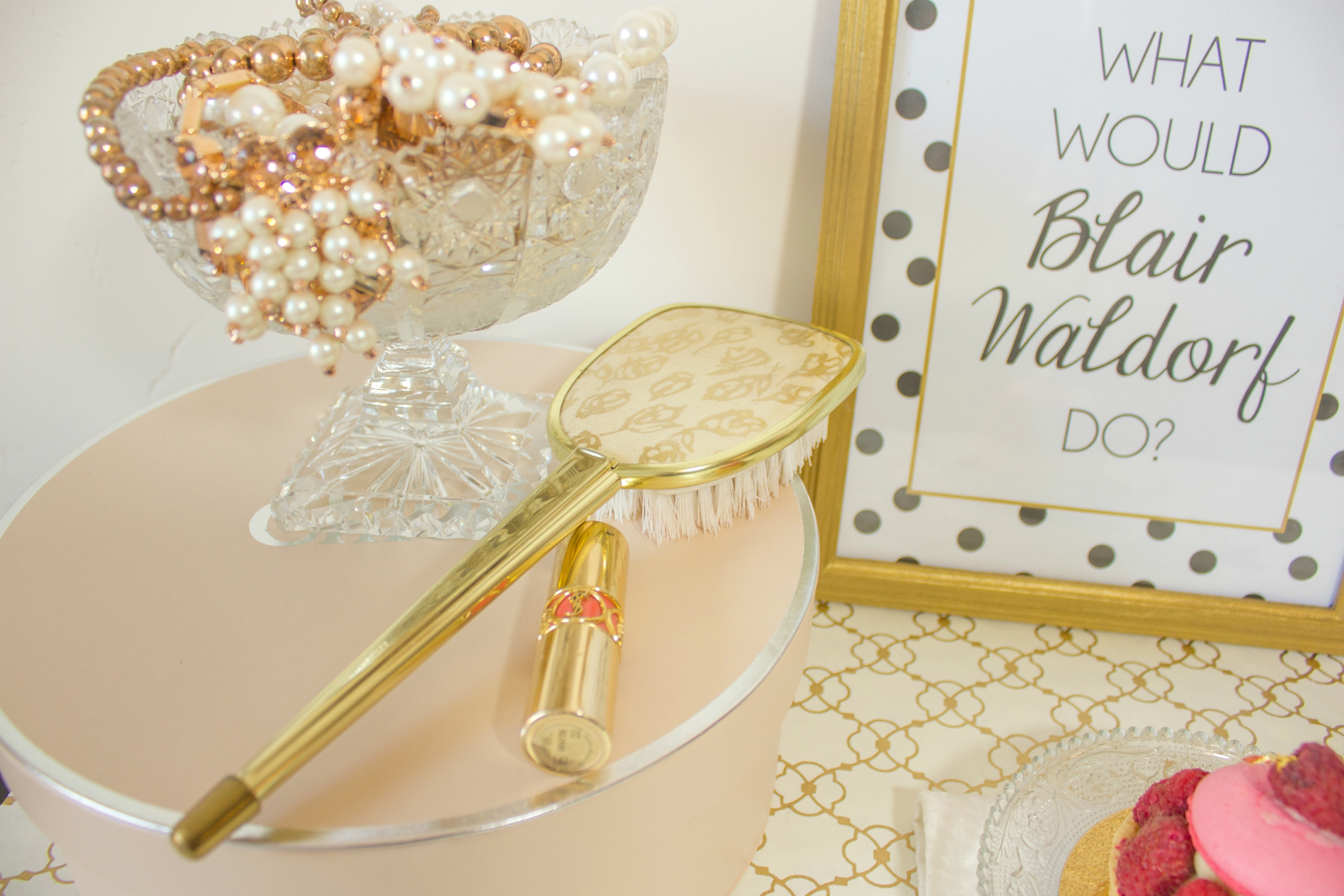 Gold hairbrush heirloom and What Would Blair Waldorf Do