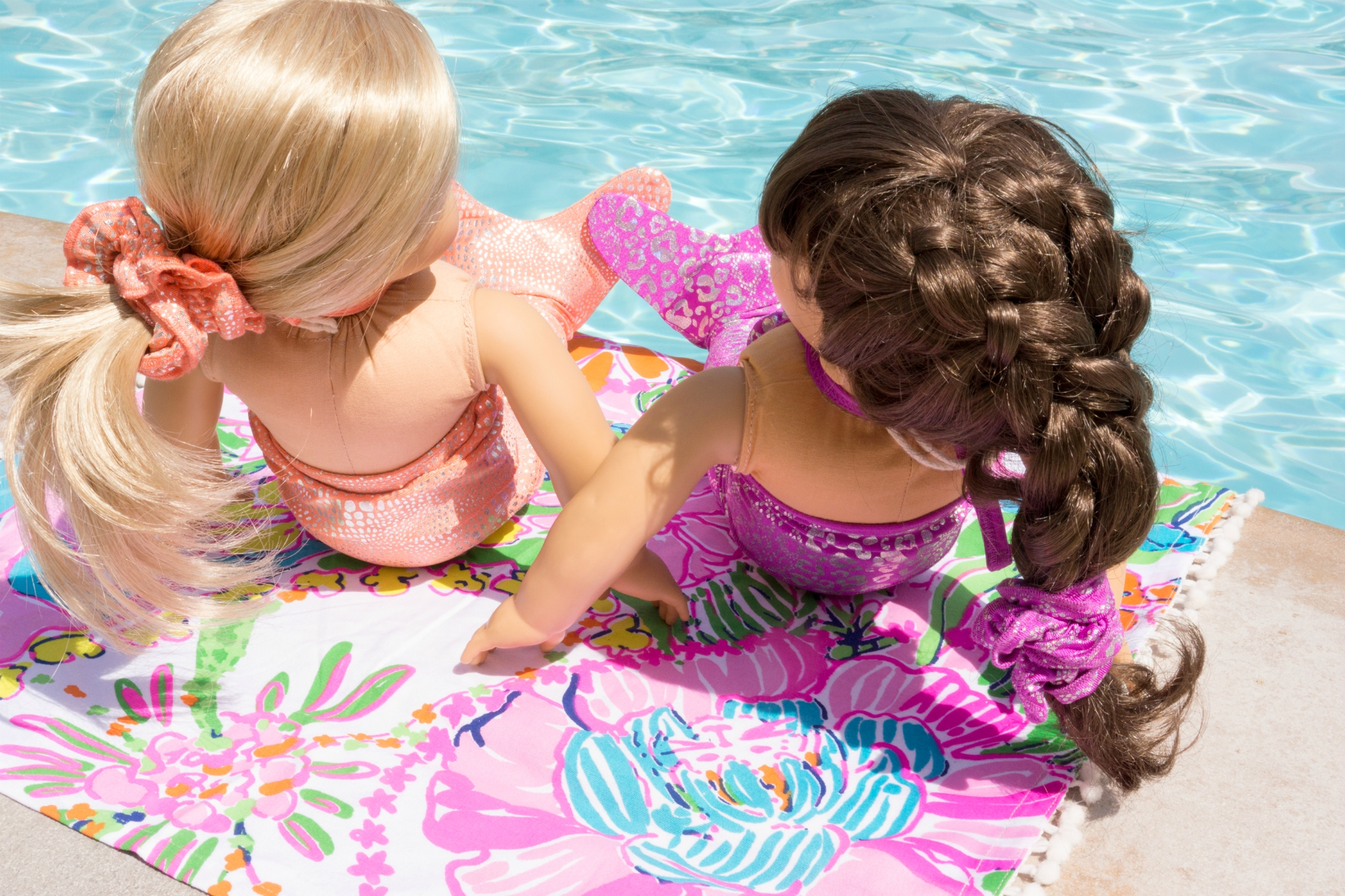 Shimmer Tail Mermaid suits for American Girl dolls