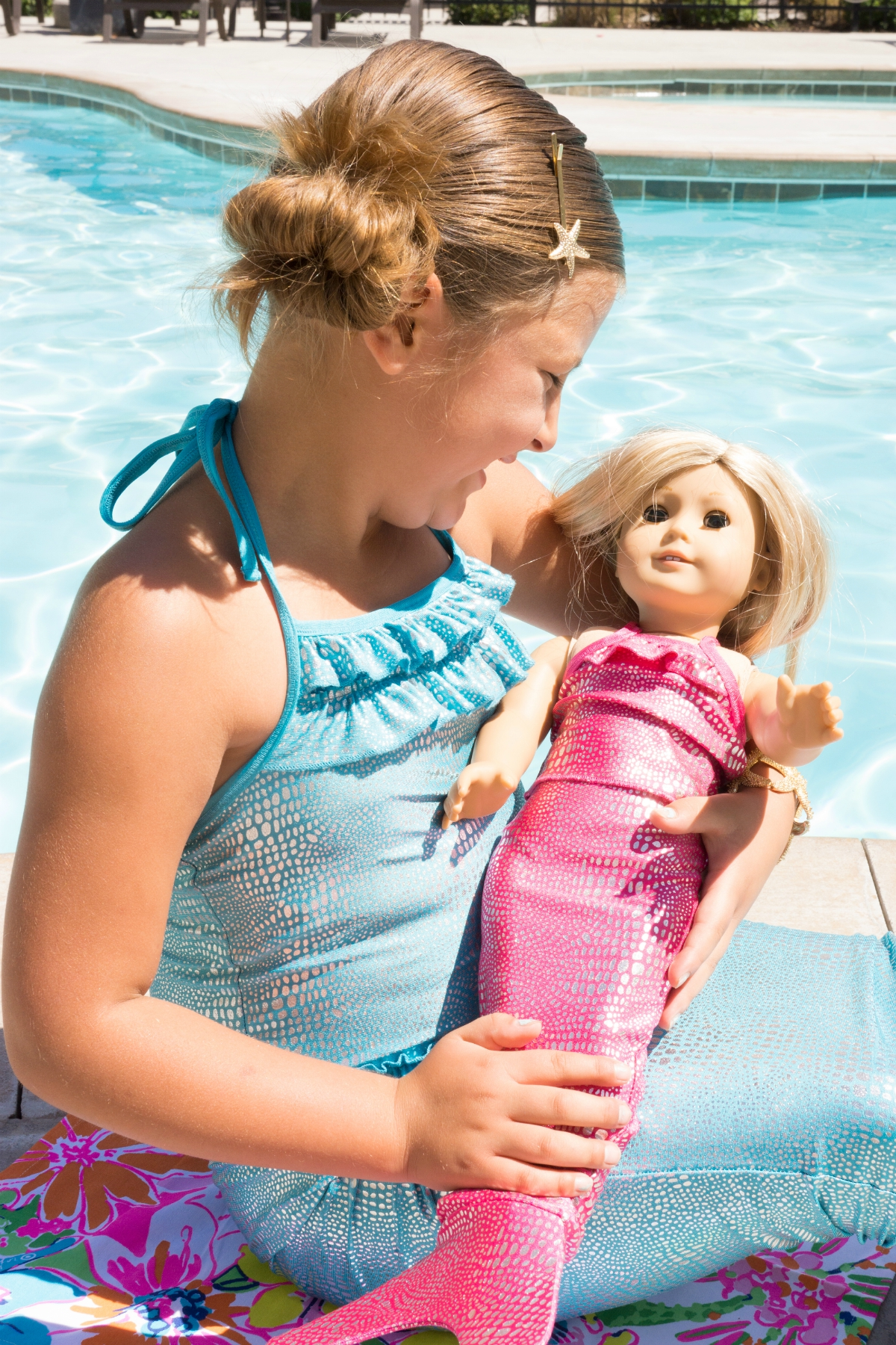 Shimmer Tail mermaid and american girl doll