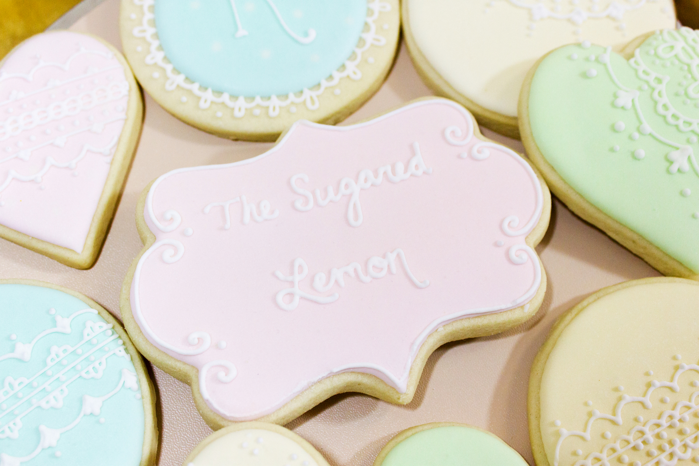 Fancy frosted cookies