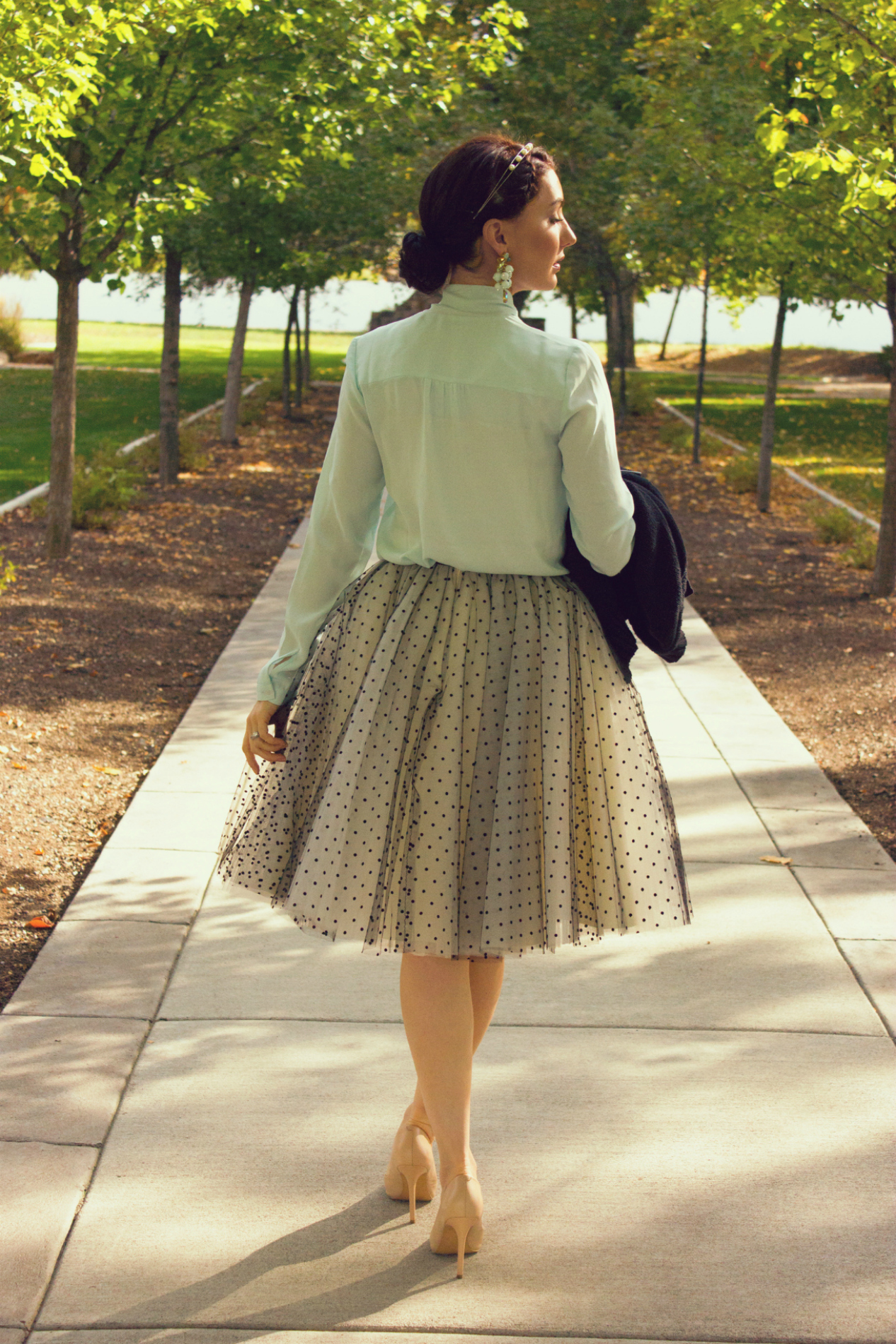 Ladylike outfit inspiration, featuring Reathua's tulle skirt