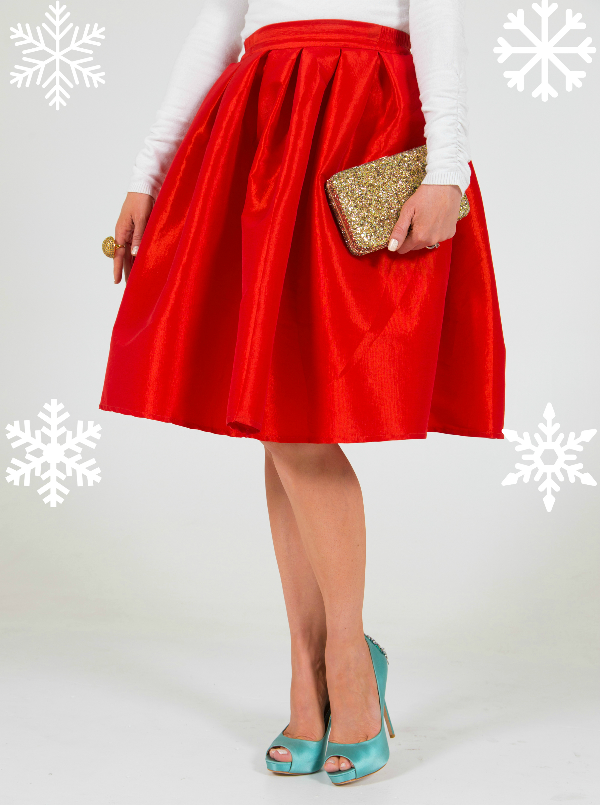 Fancy and chic Christmas holiday outfit
