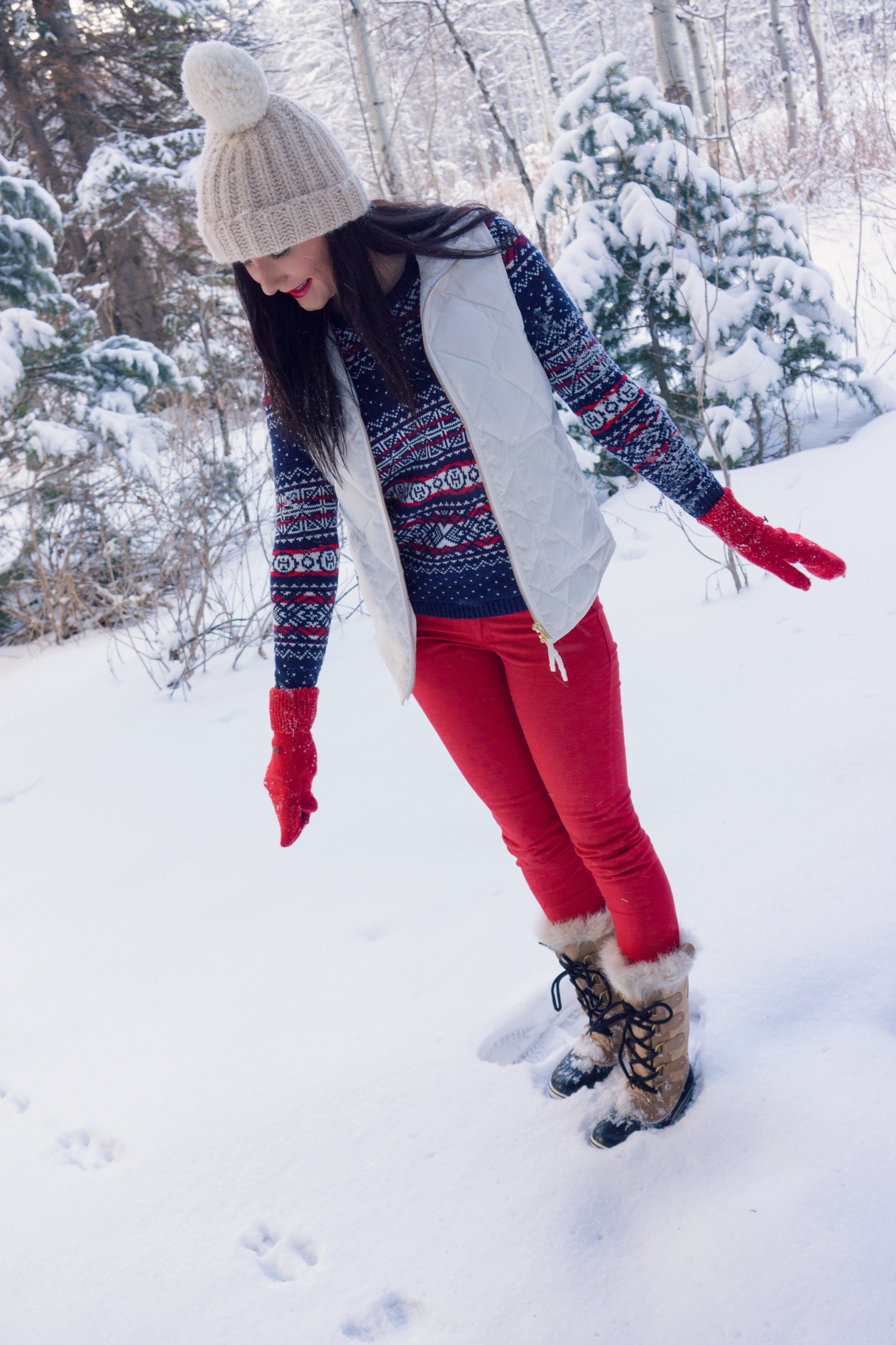 J.Crew winter holiday outfit