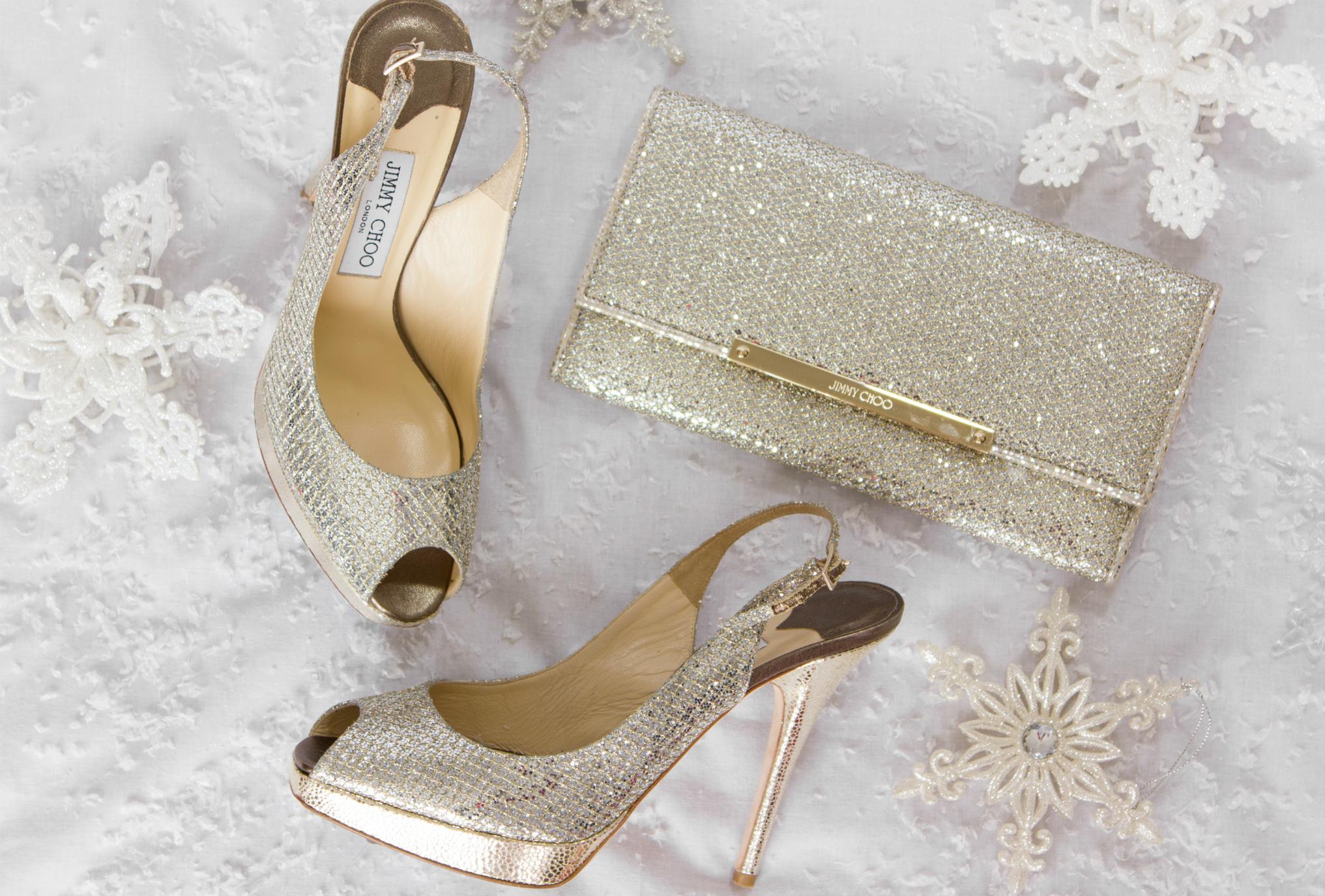Jimmy-Choo-glitter Nova slingback heels