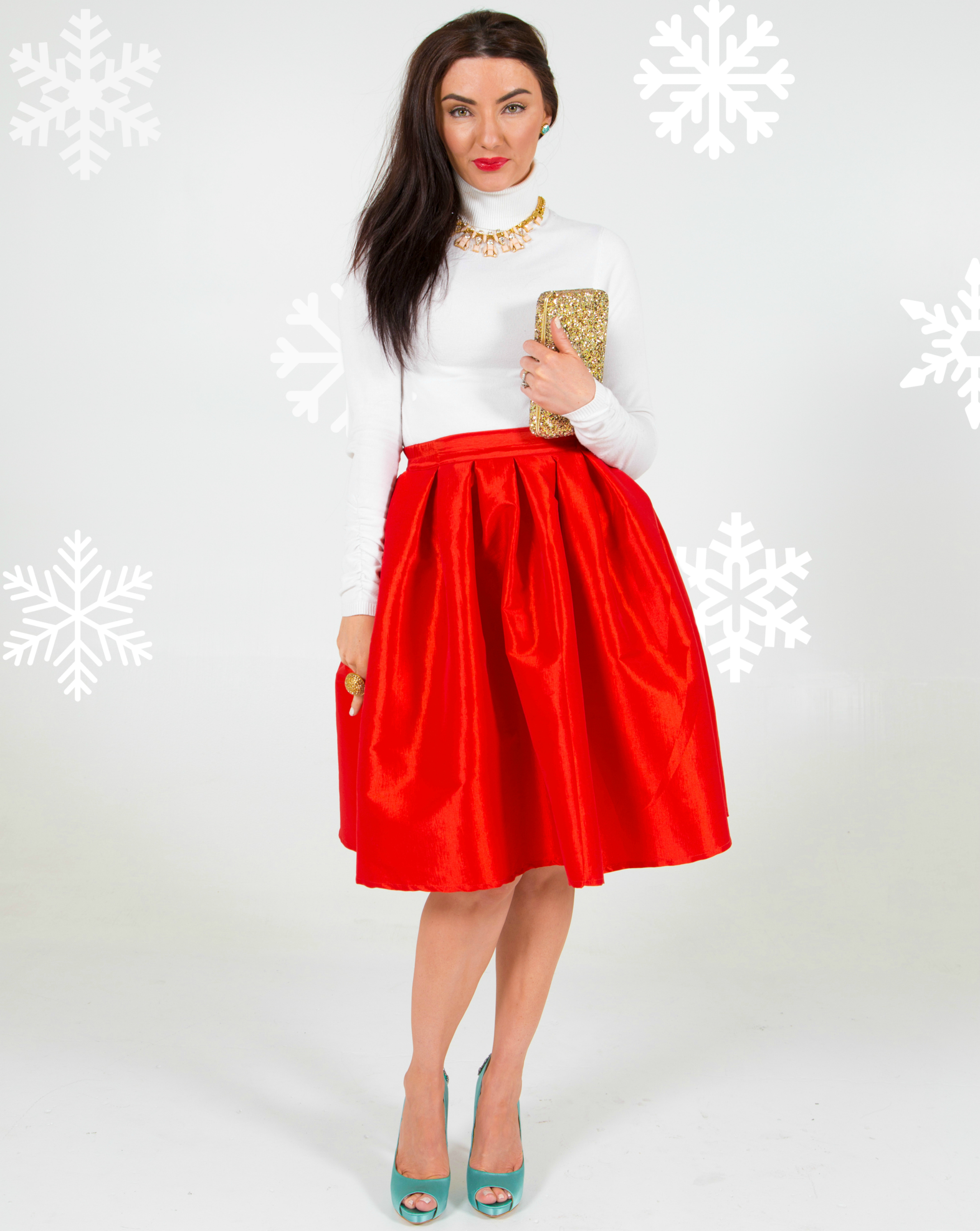 Kate Spade Christmas glitter holiday outfit