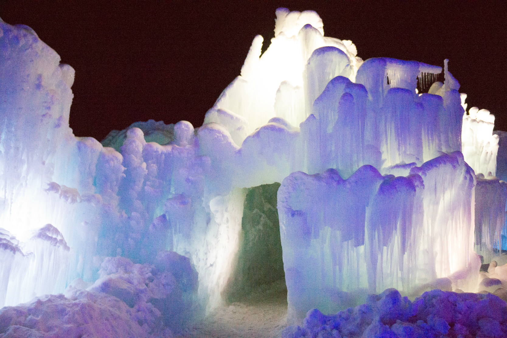 Elsa ice castle in midway