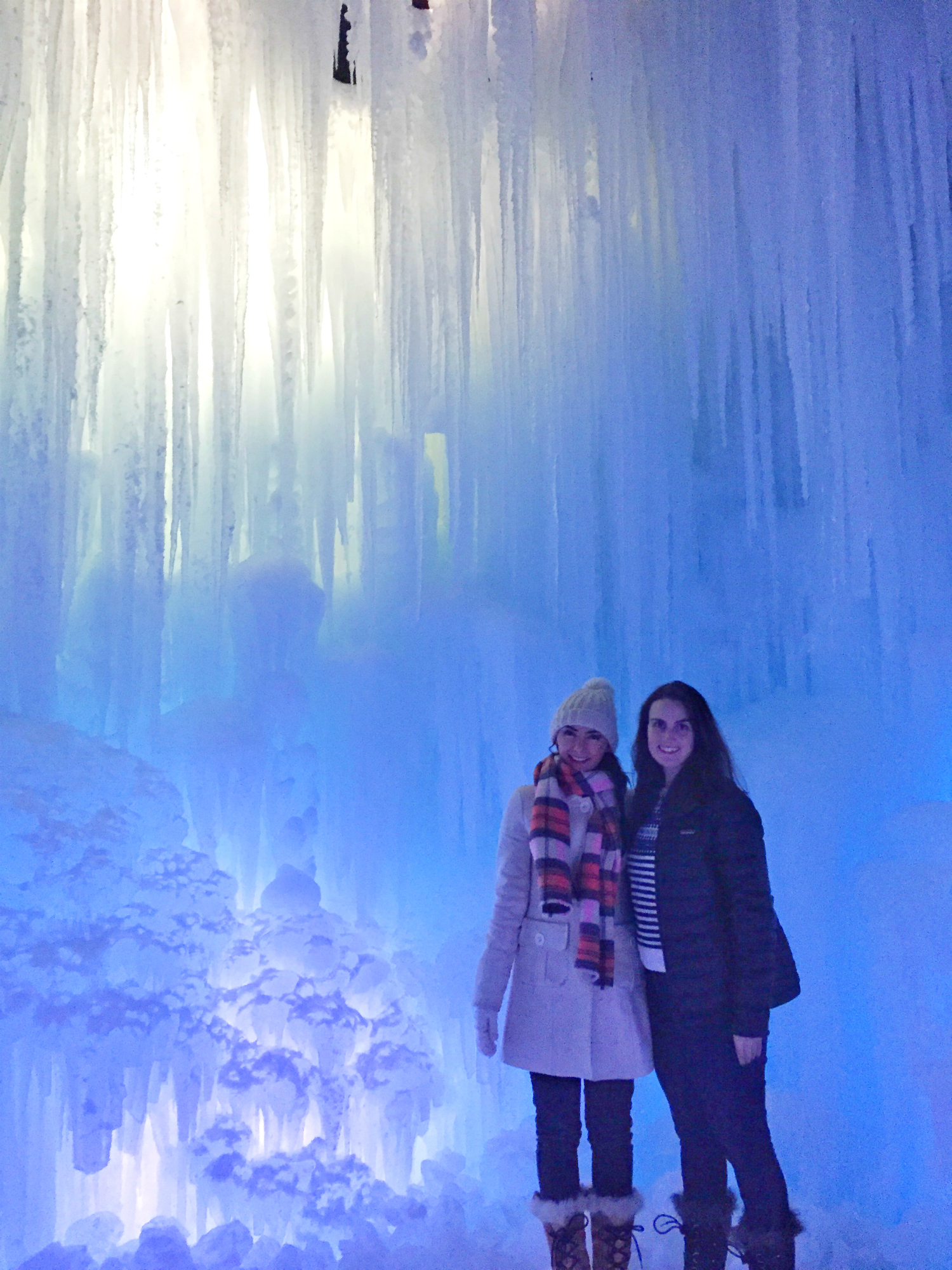 Elsa and anna go to the midway ice castles Are we going to get snow this year 2016