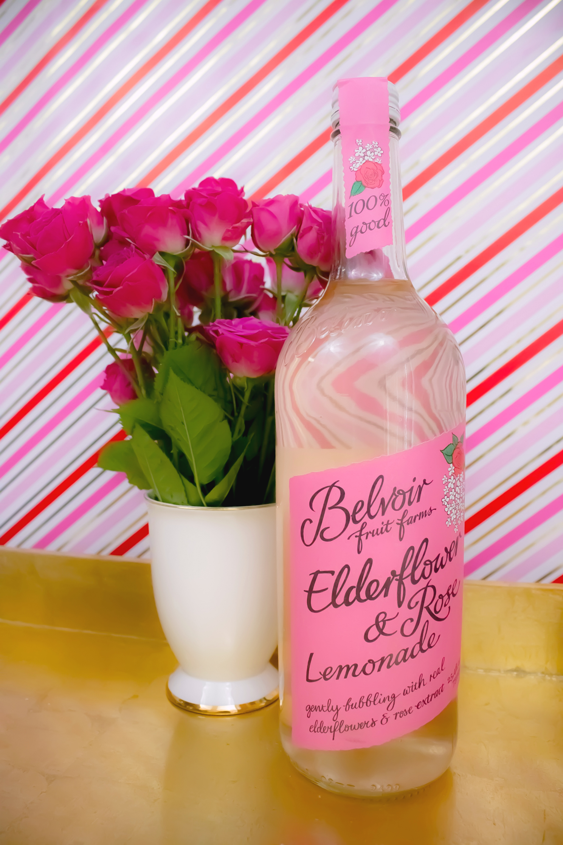 Belvoir fruit farms elderflower and rose lemonade valentines gift guide