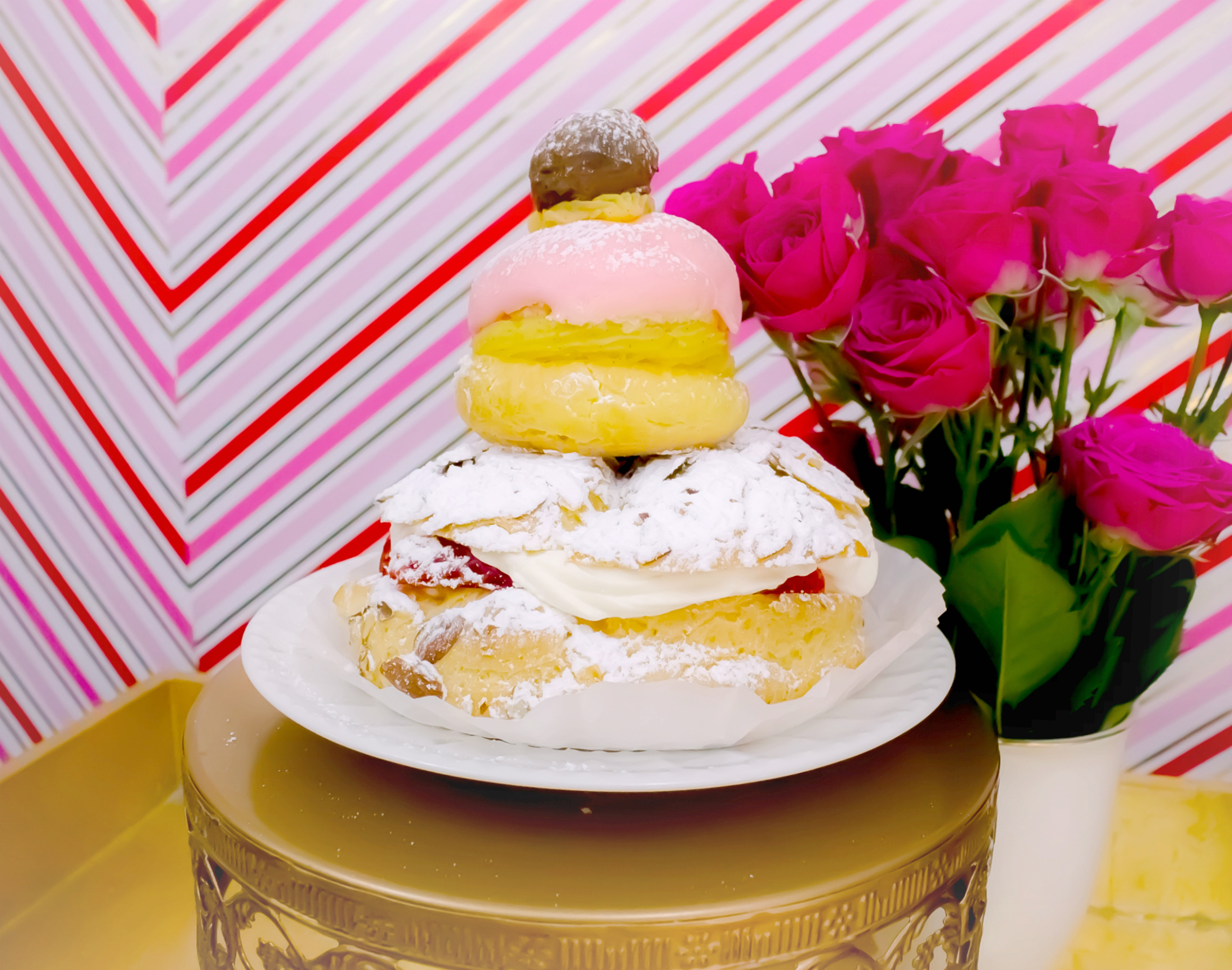 Laduree pastry cream puff