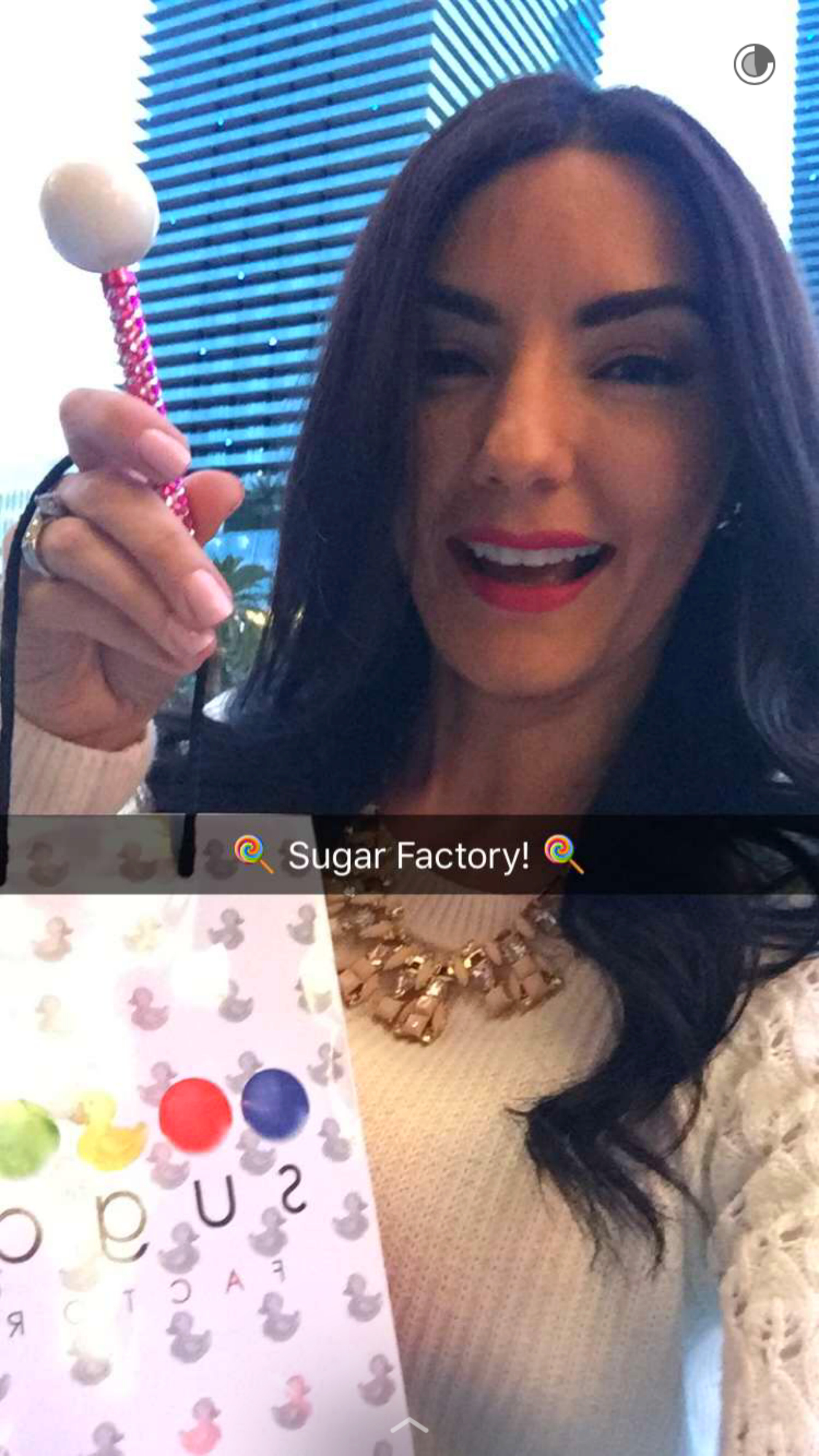 glittering lollipop at sugar factory las vegas