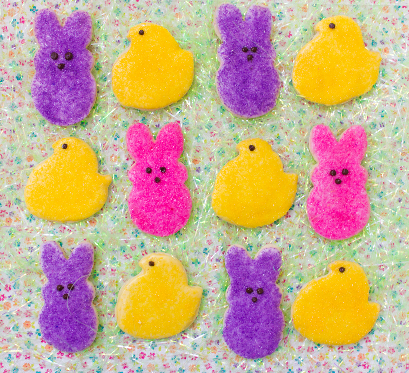 easter chick and bunny peeps