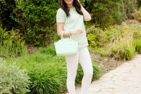 Spring and Summer scallop trend featuring Kate Spade New York