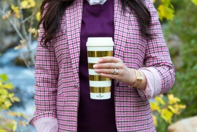 Pretty in pink houndstooth