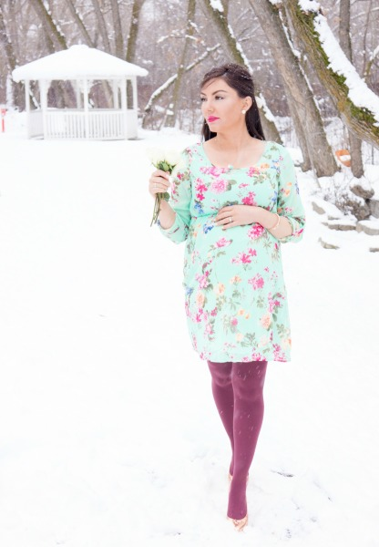 Floral baby shower dress from Pink Blush