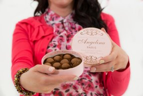 Angelina Paris Dark Chocolate and Salted Caramel Truffles for Valentines Day