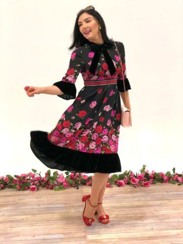 rose bow kate spade dress
