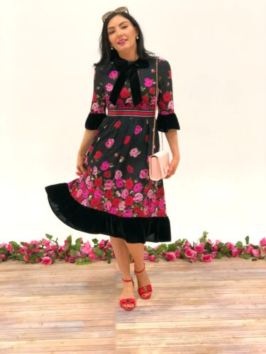 Spring kate spade flower floral dress