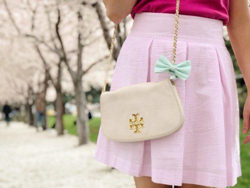 seersucker bow skirt