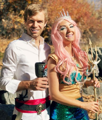 Mermaid and Pirate Couples Costume