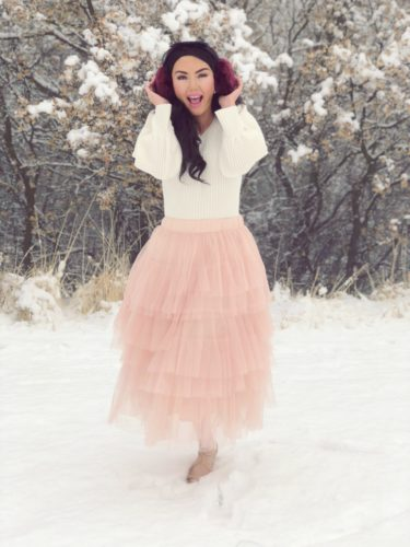 Winter Waltz of the Flowers Tulle Skirts