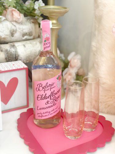 Belvoir elderflower rose sparkling lemonade