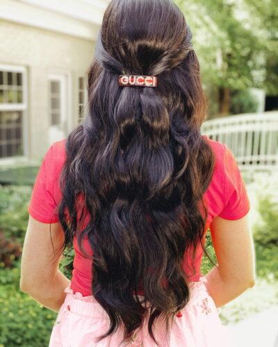Pink Gucci hair clip