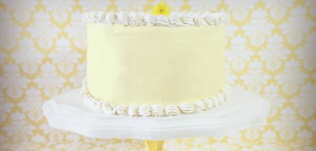 Lemon Debutante Cake